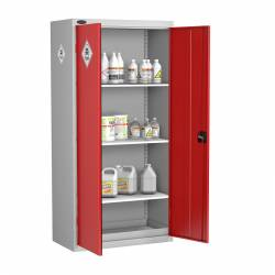 Tall Toxic Storage Cabinet With 3 Shelves